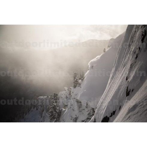 Skier in beautiful light