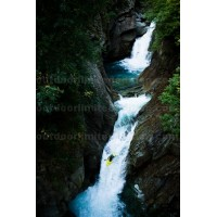 Kayaker in steep fall