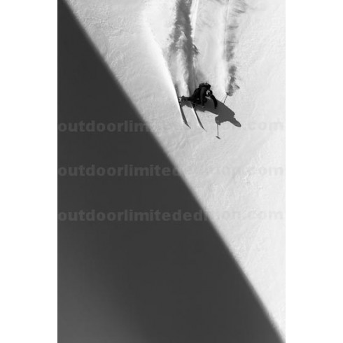 Skier going fast