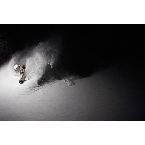Skier in the night