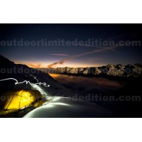 Tent in sunset
